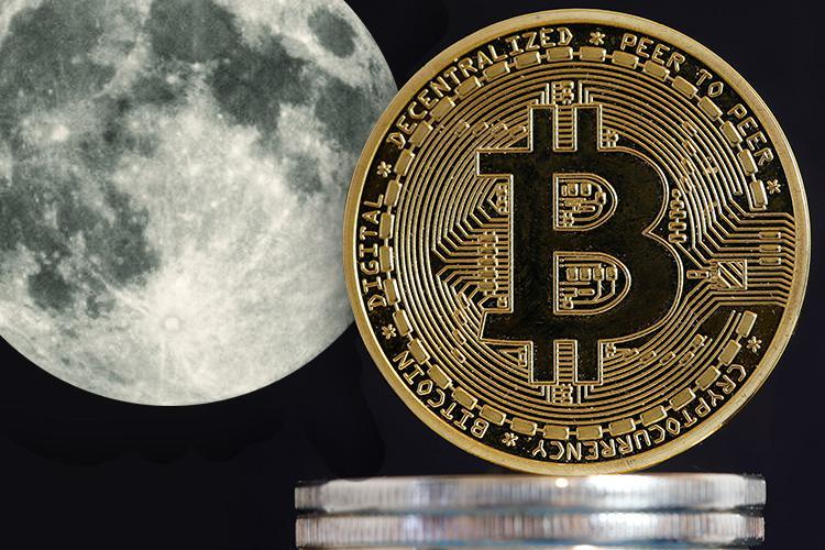 Bitcoin's January price cash is being blamed on the moon